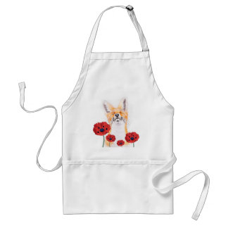 fox and poppies standard apron