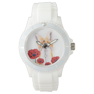 fox and poppies watch