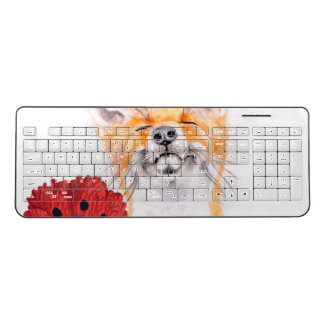 fox and poppies wireless keyboard