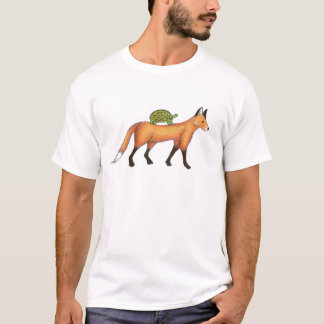 Fox and Turtle Print T-shirt