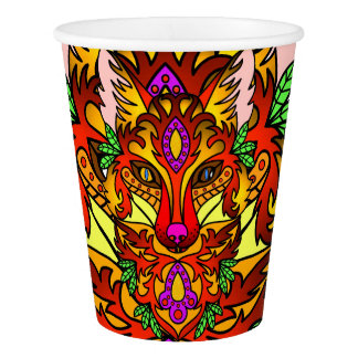 Fox Animal Paper Cup