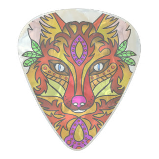 Fox Animal Pearl Celluloid Guitar Pick