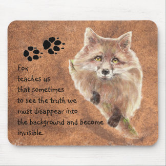 Fox, Animal Totem, Spirit Guide, Symbol Mouse Pad