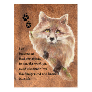 Fox, Animal Totem, Spirit Guide, Symbol Postcard