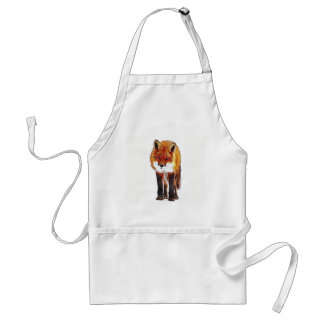 fox apron, fox kitchen, fox gift standard apron