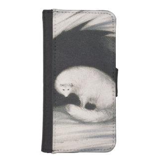 Fox arctique, de 'récit d'un deuxième voyage coque avec portefeuille pour iPhone 5