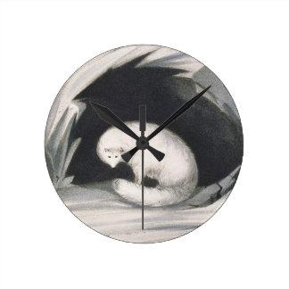 Fox arctique, de 'récit d'un deuxième voyage dedan horloge murale
