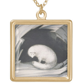 Fox arctique, de 'récit d'un deuxième voyage dedan pendentif carré