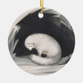Fox arctique, de 'récit d'un deuxième voyage ornement rond en céramique
