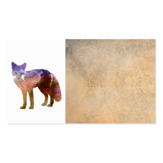 fox art business card template on sepia