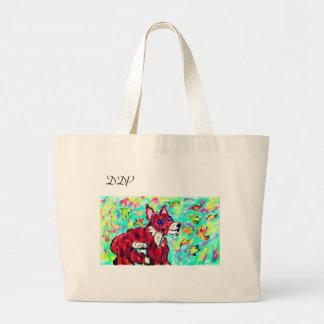 fox autumn art large tote bag