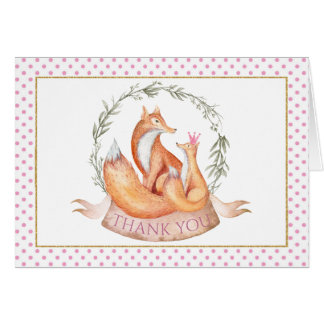 Fox Baby Shower Thank You Cards