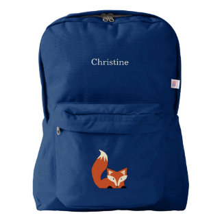 Fox Backpack with Name