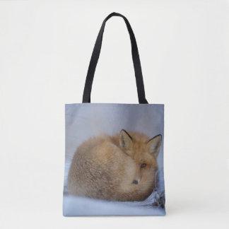 Fox bag, foxy shopper, tote, handbag, wildlife tote bag