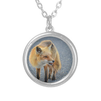 Fox Barking Silver Plated Necklace