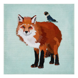 FOX & BLUE BIRD Poster