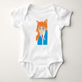 fox boy baby bodysuit