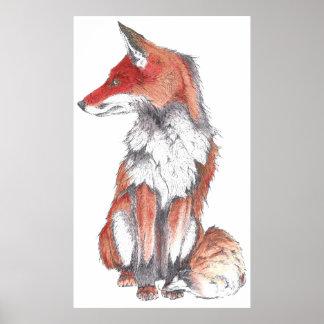 Fox by Inkspot Poster