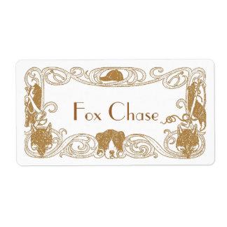 Fox Chase Hunt Homebrew Bottling Home Brew Labels