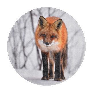 fox chopping board, fox kitchen board, fox gift cutting board