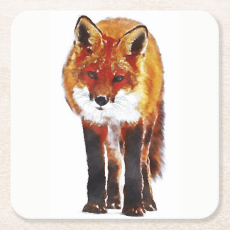 fox coaster, custom wildlife coasters