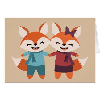Fox Couple Greeting Card