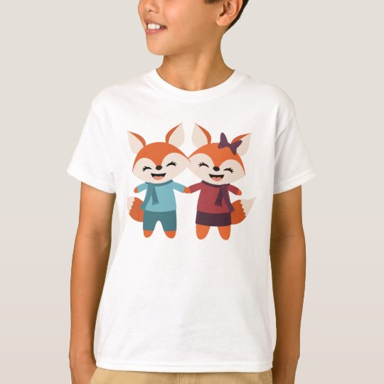 Fox Couple Kids' T-Shirt