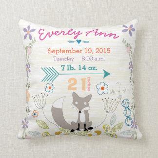 Fox de créatures de région boisée de bébé de stat oreillers