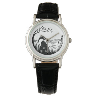 Fox Design Leather Ladies Watch
