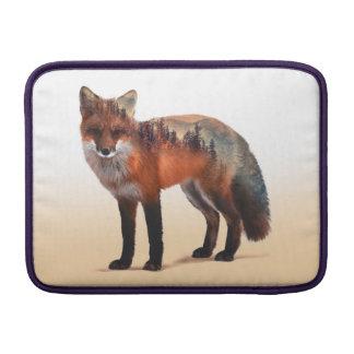 Fox double exposure - fox art - red fox - wildfox MacBook sleeve