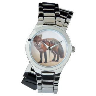 Fox double exposure - fox art - red fox - wildfox watch