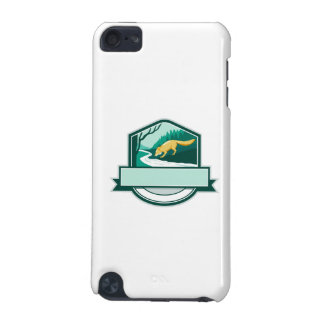 Fox Drinking River Creek Woods Crest Woodcut iPod Touch 5G Case