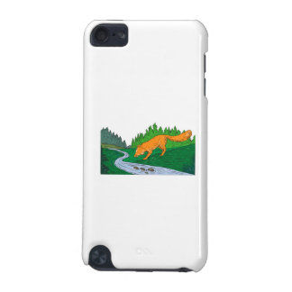 Fox Drinking River Woods Creek Drawing iPod Touch (5th Generation) Cover