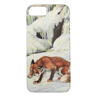 Fox eating icicle iPhone 7 case