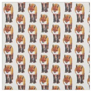 fox fabric, woodland fabric, sewing, craft fabric