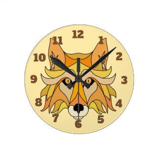 Fox Face Round Clock