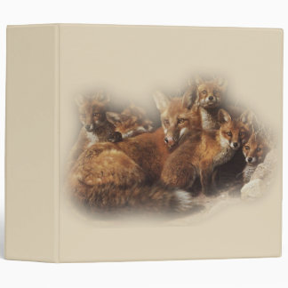 Fox Family 3 Ring Binder