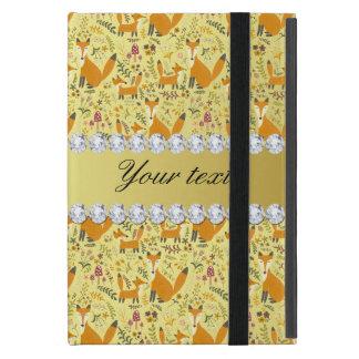 Fox Faux Gold Foil Bling Diamonds Case For iPad Mini
