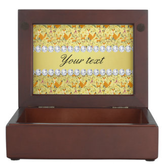 Fox Faux Gold Foil Bling Diamonds Memory Boxes