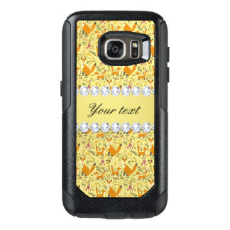 Fox Faux Gold Foil Bling Diamonds OtterBox Samsung Galaxy S7 Case