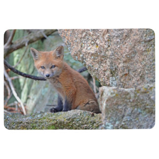 fox floor mat, foxy mat, fox cub floor mat