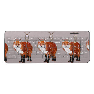 FOX & FLORAL ANTLER OWL II WIRELESS KEYBOARD