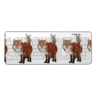 FOX & FLORAL ANTLER OWL WIRELESS KEYBOARD