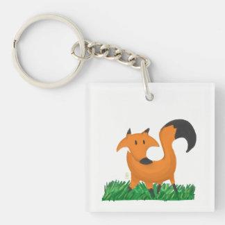 Fox garden keychain