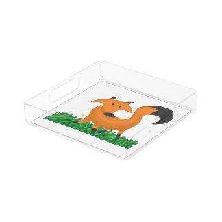 Fox garden serving tray