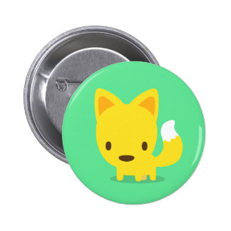 fox green pins 缶バッジ