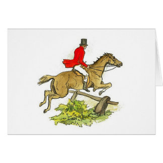 Fox Hunt Hunter Jumper Horseback Riding Trail Card