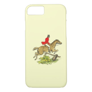 Fox Hunt Jumper Hunter Horse Riding Custom Color iPhone 8/7 Case