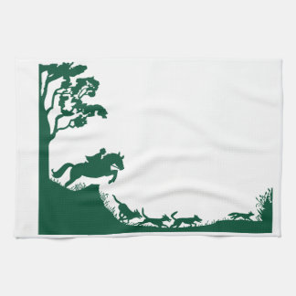 Fox Hunting Silhouette Towel
