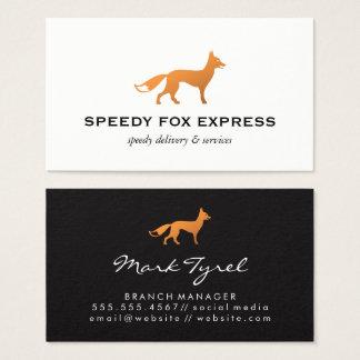 Fox Icon (Black & White) Business Card